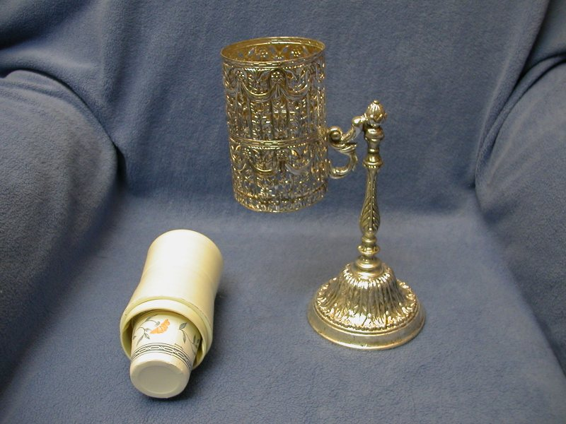 Well known Vintage Silver Filigree Bathroom Dixie Cup Dispenser/Holder – Sold  BL32