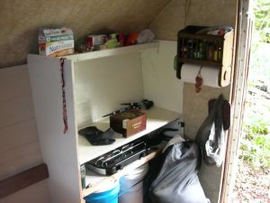 Other Side Storage and Work/Cooking Area